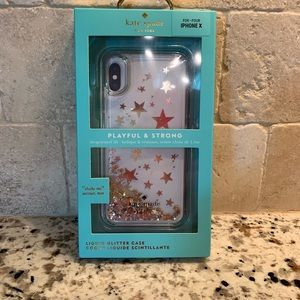 🌟 Brand 🆕 Star Kate Spade IPhone X Phone case🌟